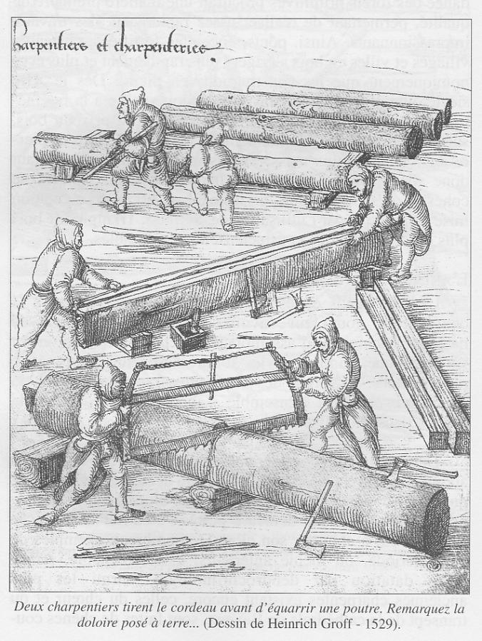 Gravure charpentier
